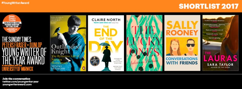Young Writer of the Year Award 2017 shortlist