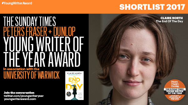 PFD Sunday Times Young Writer of the Year shortlist – Claire North