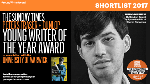 PFD Sunday Times Young Writer of the Year shortlist - Minoo Dinshaw