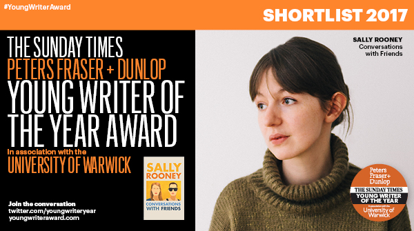 PFD Sunday Times Young Writer of the Year shortlist – Sally Rooney