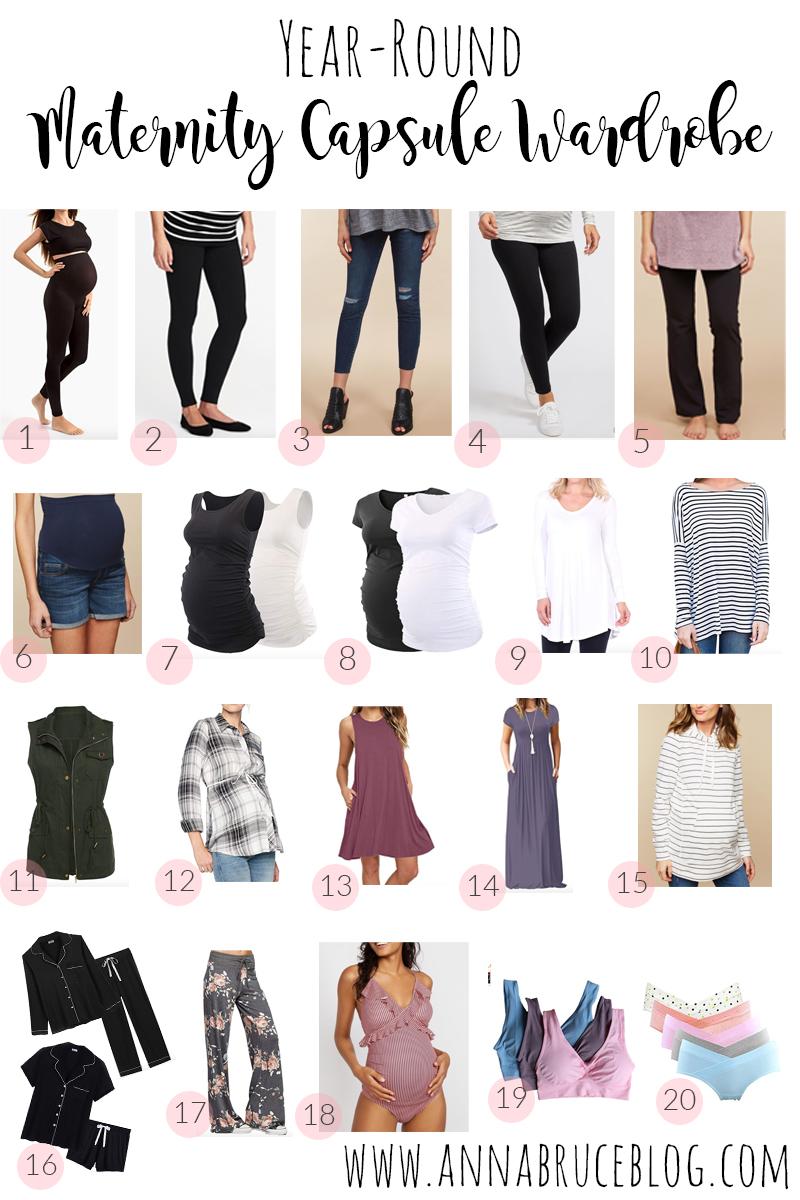 20 Year Round Maternity Capsule Wardrobe Pieces Anna Bruce Blog
