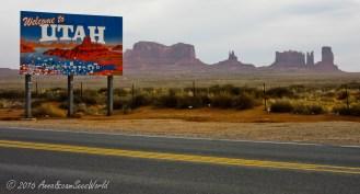 Crossing over from Arizona to Utah