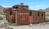 Abandoned railroad wagon