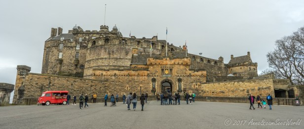 Edinburgh Castle with its oldest buildings dating from the 12th century
