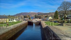 Opening the locks on Caledonian Canal - saw some boats heading from Loch Ness towards Loch Oich