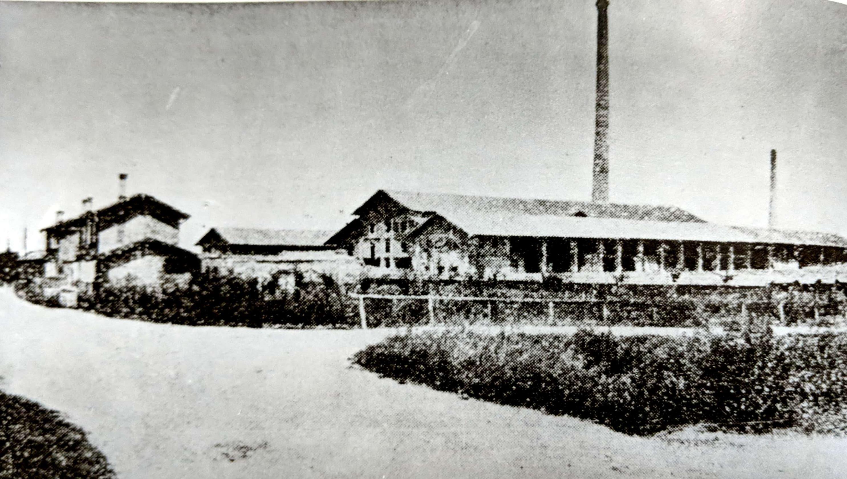 The brick kiln in San Giorgio (where the Vini San Giorgio winery now stands) in 1928.