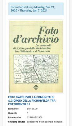 Foto darchivio. La comunita di San Giorgio della Richinvelda tra lOttocento e il Novecento