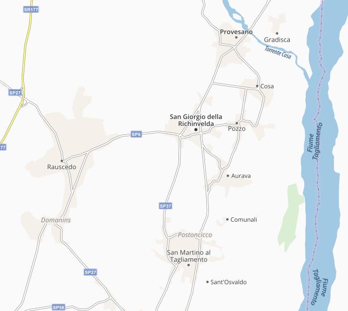 Map of San Giorgio della Richinvelda