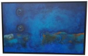 Frei schweben in Blau - Acryl auf Leinwand