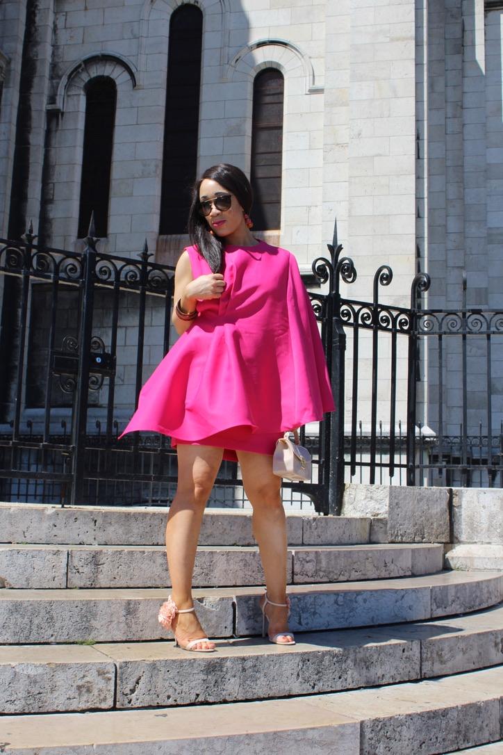 look état robe rose volant