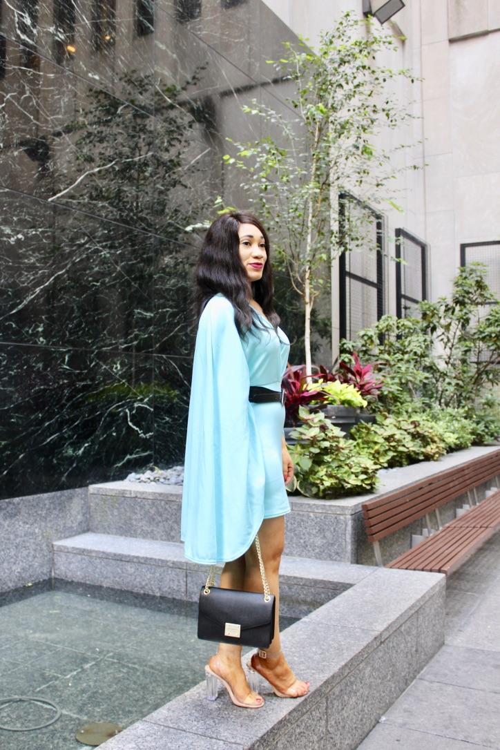robe effet cape