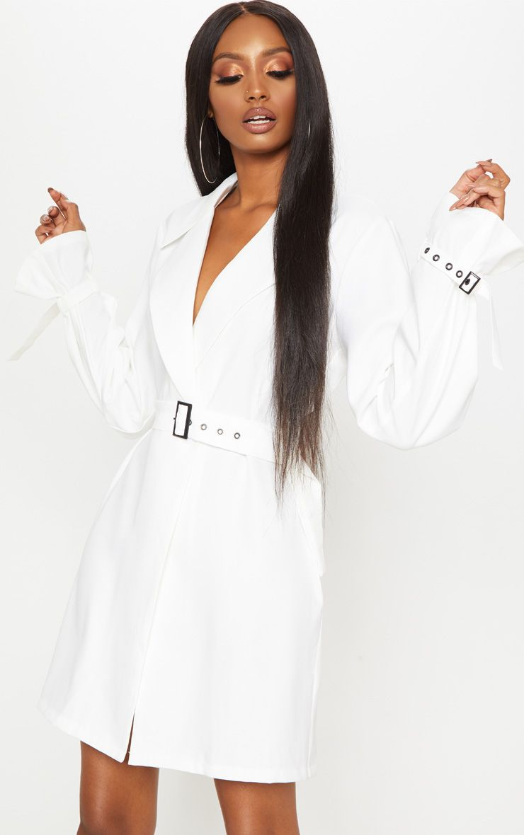 robe blazer détail boucle prettylittlething