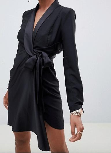 robe-noire-syle-smoking-asos