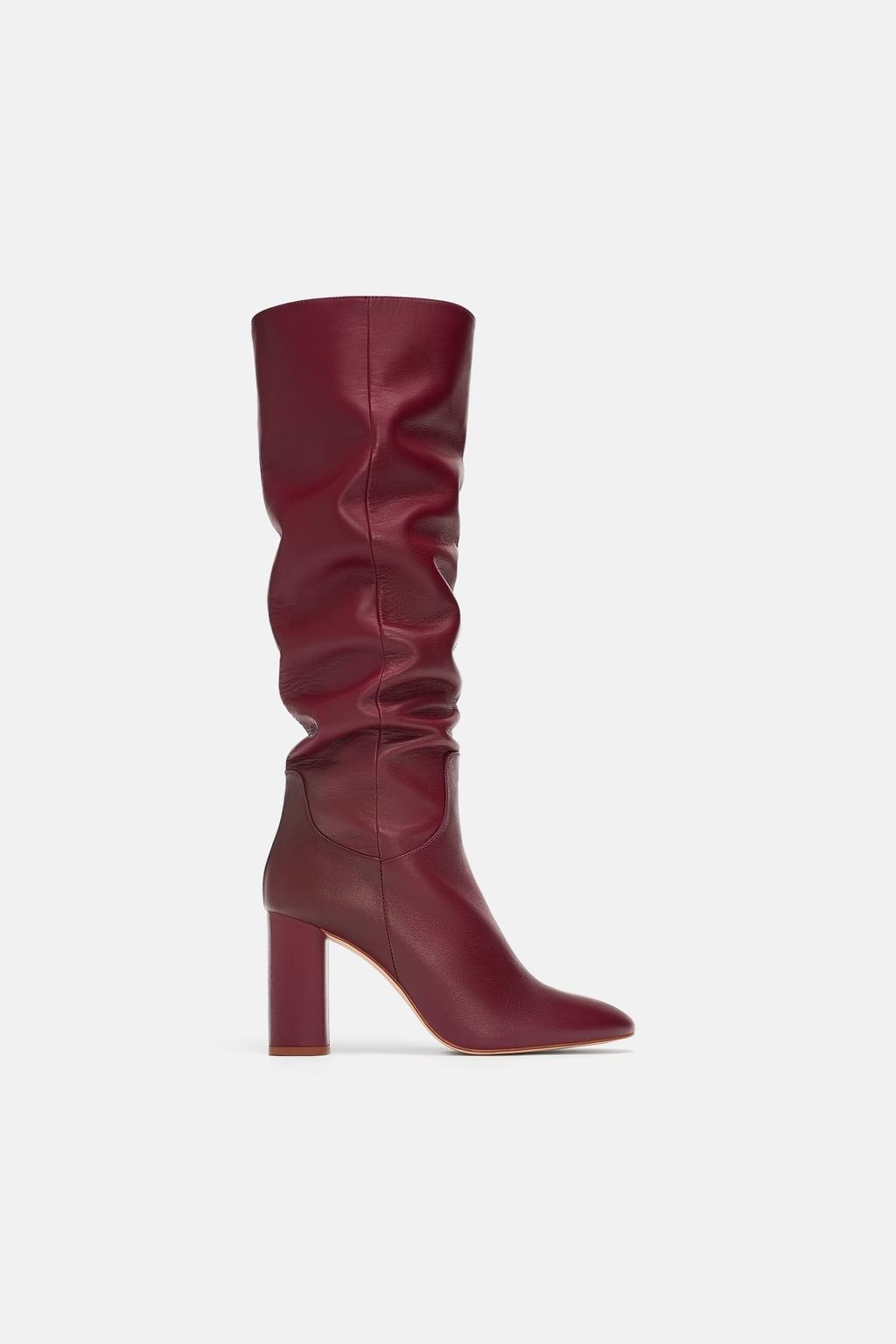 bottes cuir rouge