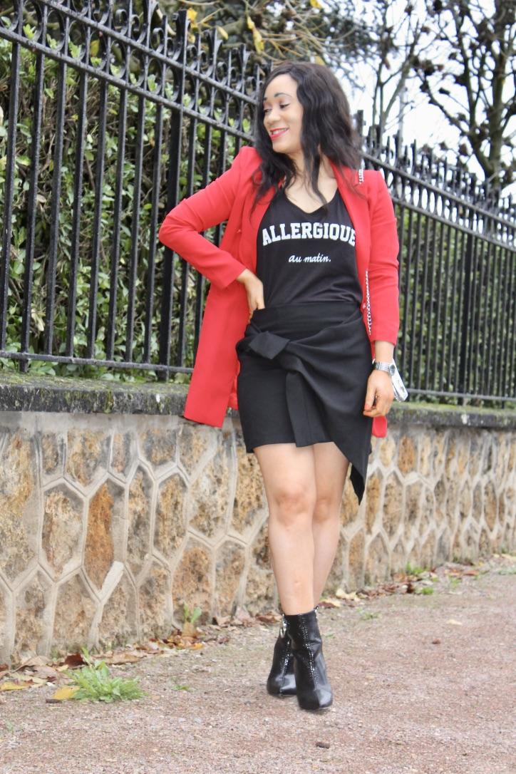 rock chic en mini jupe
