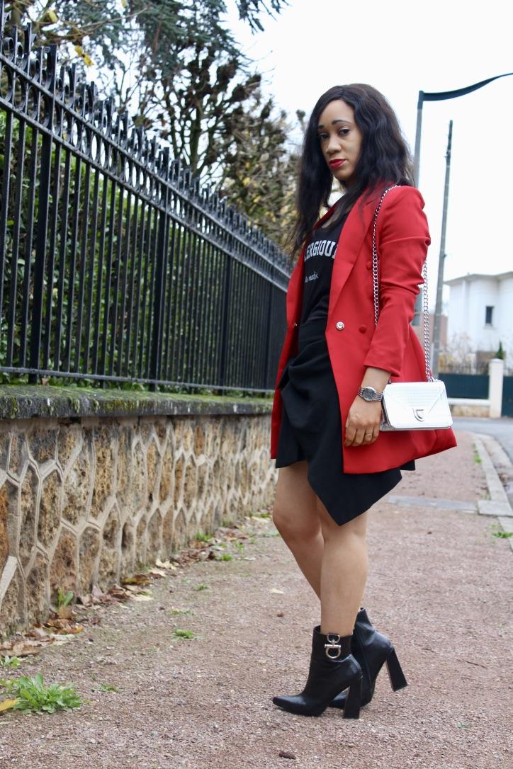 rock chic en noir et rouge