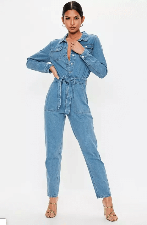 Combinaison jean style utilitaire Missguided
