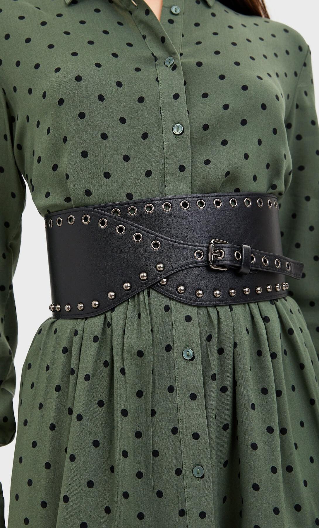 ceinture large rivets