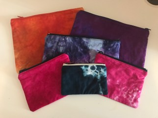 Hand Dyed Fabric Zip Bags