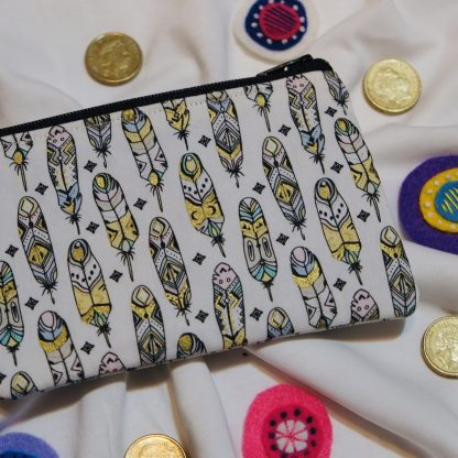 Feathers Coin Purse