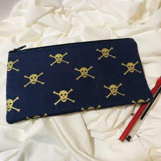 Skull and Crossbones Pencil Case