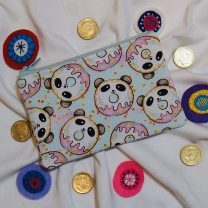 panda doughnut coin purse