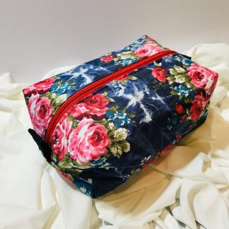 Floral Denim Box Bag