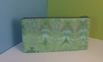 Hand Dyed Green and Blue Pencil Case