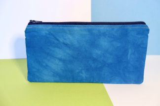 Hand Dyed Blue Pencil Case