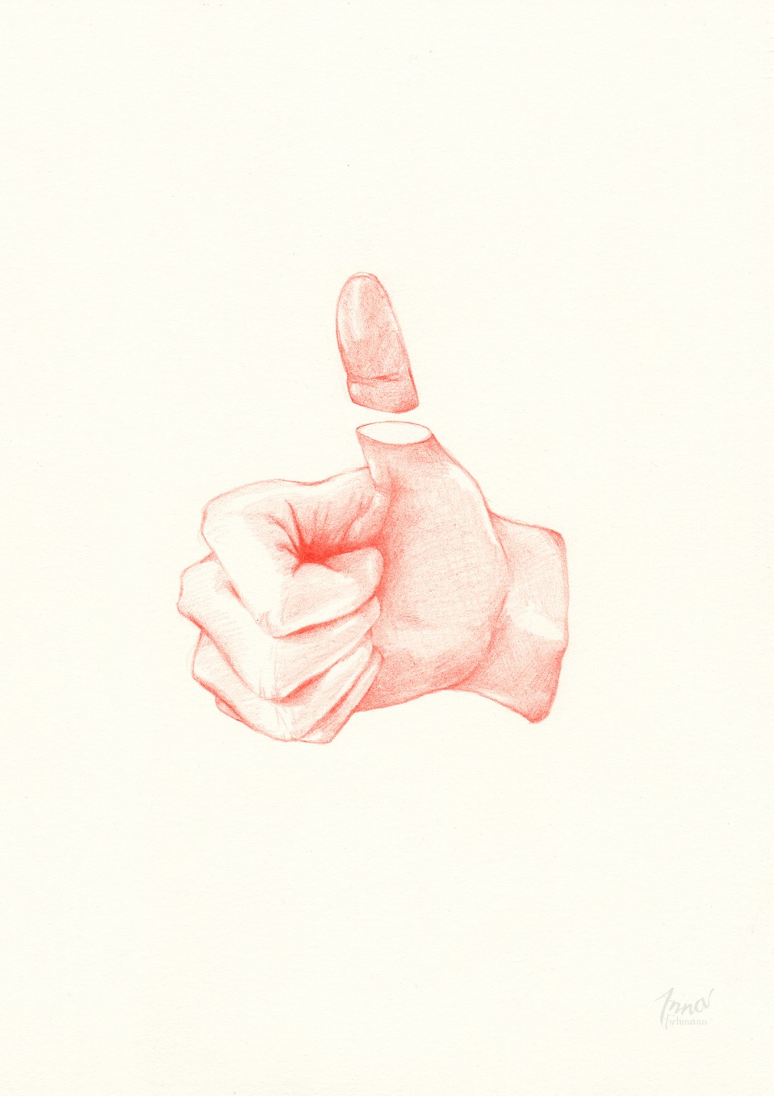 THUMBS UP   pencil on paper