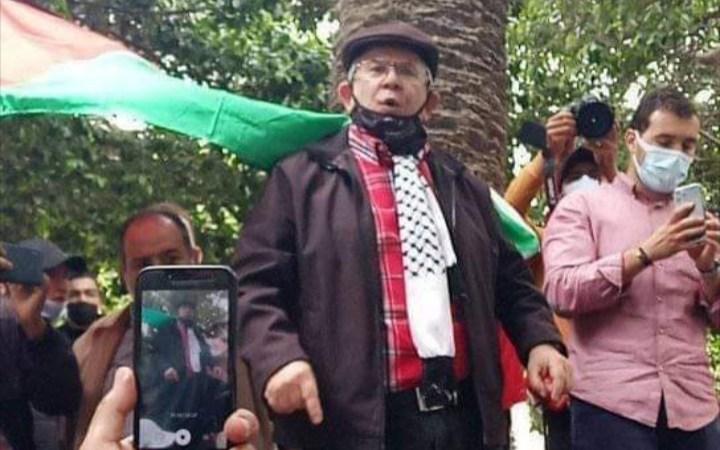 كلمة قوية لعبد الحميد أمين خلال الوقفة التضامنية مع الشعب الفلسطيني بالرباط