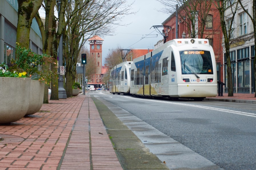 Portland is well connected by public transport