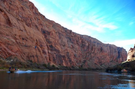 Smooth water rafting in the Colorado