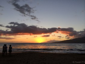 Sunset at Kalepolepo beach