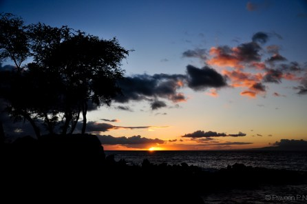 Sunset at Makena beach