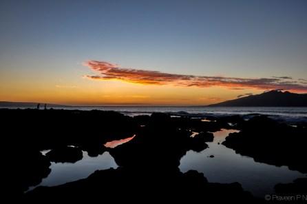 Sunset at Napili bay