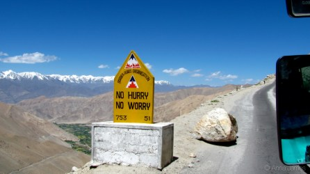 Quirky road signs by Border Road Organization(BRO) all along