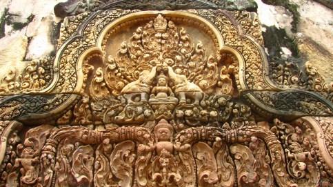 Carvings at Banteay Srey