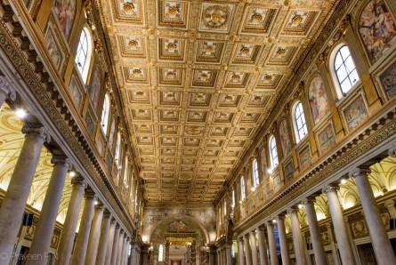Grand interior of Basilica di Santa Maria Maggiore
