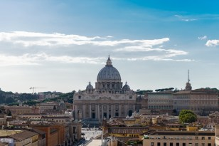Vatican view from Castel Sant'Angelo