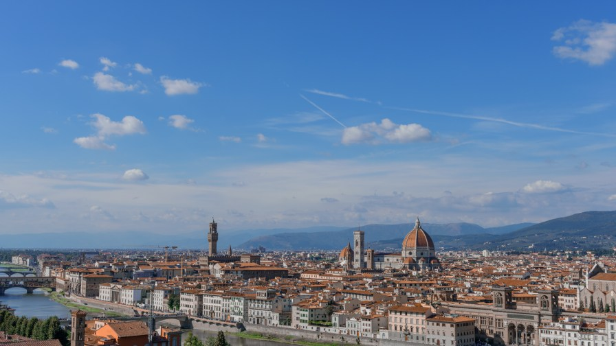 Florence skyline from Piazza del Michelangelo