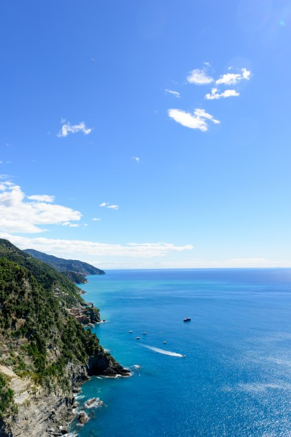 Rugged coastline of Cinque terre