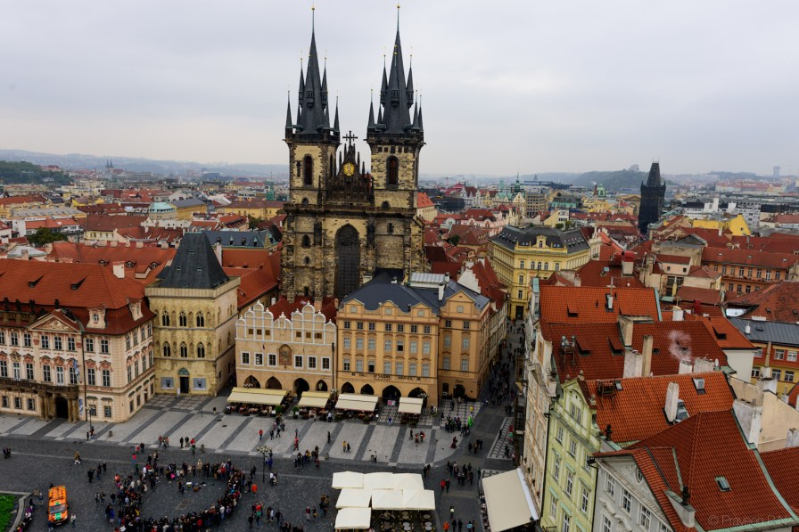 Old town square from the clock tower