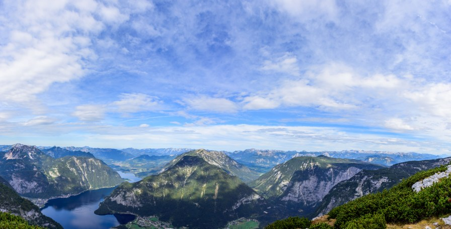 View of Hallstatt lake from Mount Krippenstein