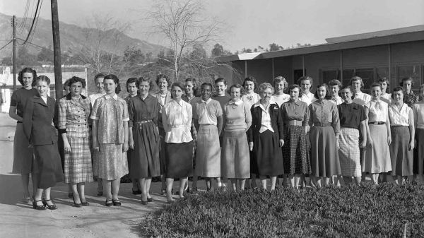 """The women of the Jet Propulsion Laboratory helped launch the first American satellites, lunar missions and planetary explorations. Those """"human computers,"""" as they were called, are seen here in 1953. Courtesy NASA/JPL-Caltech"""