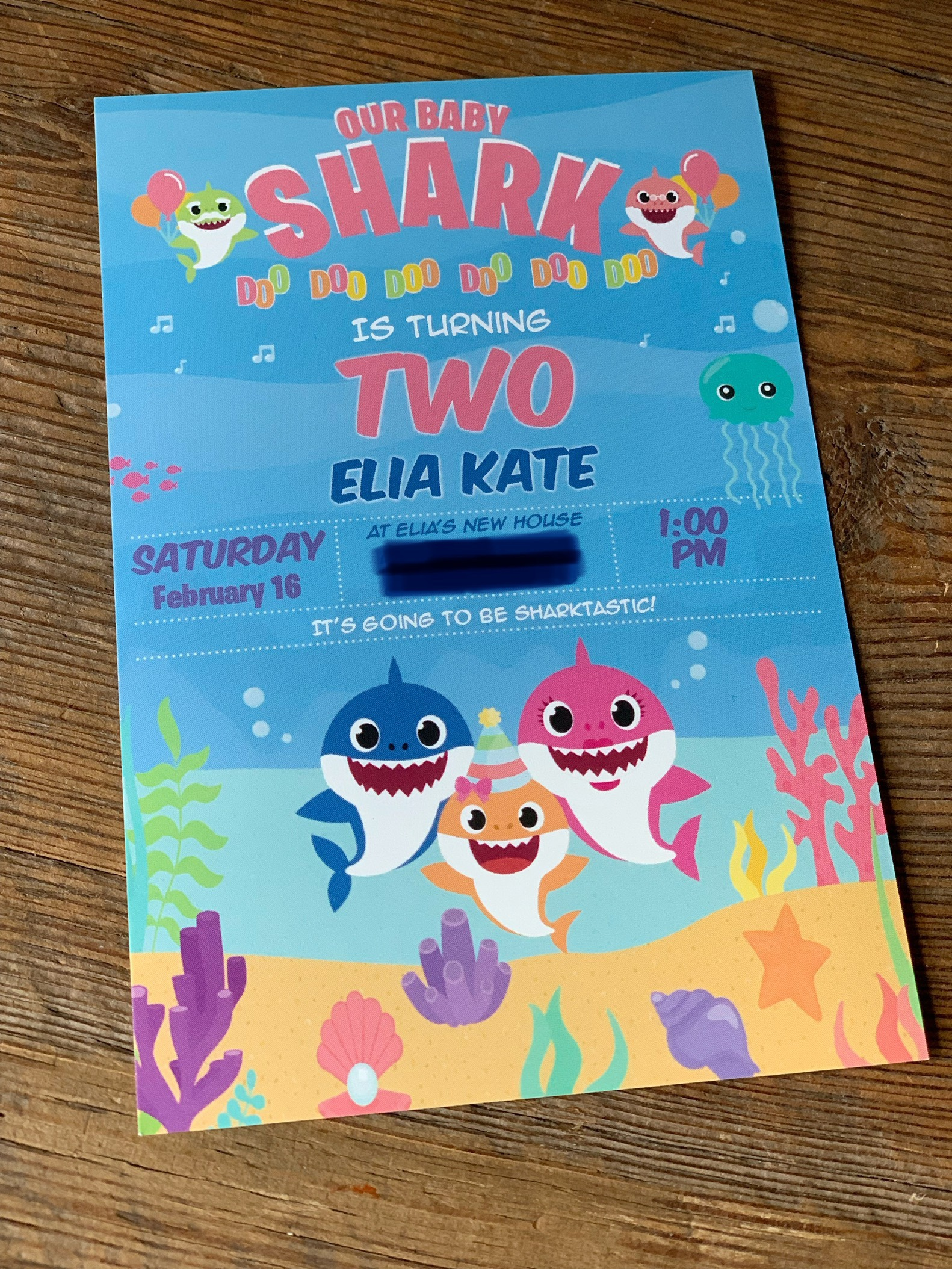 elia s baby shark 2nd birthday turner