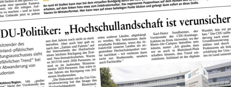 Studierendenzahlen in Rheinland-Pfalz steigen!
