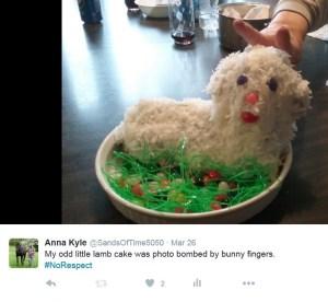 lamb cake bunny fingers