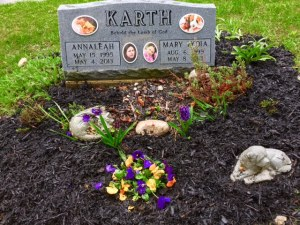 May 4, 2016 AnnaLeah & Mary headstone