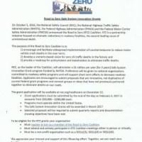 Road to Zero Coalition Announces $1 million Safe System Innovation Grant Program